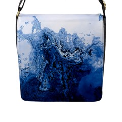 Water Nature Background Abstract Flap Messenger Bag (l)
