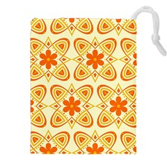 Background Floral Forms Flower Drawstring Pouches (xxl)