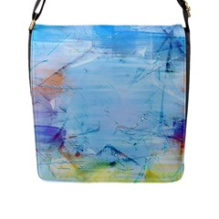Background Art Abstract Watercolor Flap Messenger Bag (l)