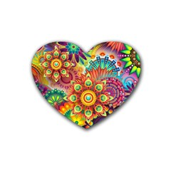 Colorful Abstract Background Colorful Heart Coaster (4 Pack)