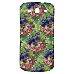 Background Square Flower Vintage Samsung Galaxy S3 S Iii Classic Hardshell Back Case
