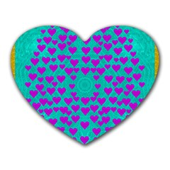 Raining Love And Hearts In The  Wonderful Sky Heart Mousepads