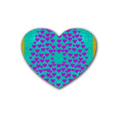 Raining Love And Hearts In The  Wonderful Sky Heart Coaster (4 Pack)