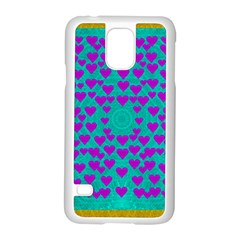 Raining Love And Hearts In The  Wonderful Sky Samsung Galaxy S5 Case (white)