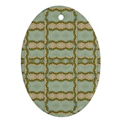 Celtic Wood Knots In Decorative Gold Ornament (oval)