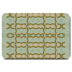 Celtic Wood Knots In Decorative Gold Large Doormat