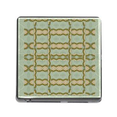 Celtic Wood Knots In Decorative Gold Memory Card Reader (square)