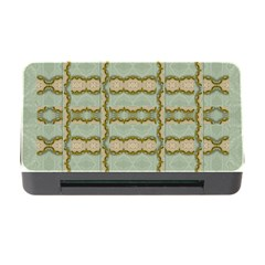 Celtic Wood Knots In Decorative Gold Memory Card Reader With Cf
