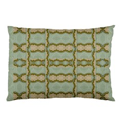 Celtic Wood Knots In Decorative Gold Pillow Case (two Sides)