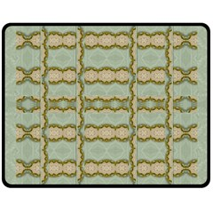 Celtic Wood Knots In Decorative Gold Double Sided Fleece Blanket (medium)