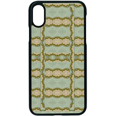 Celtic Wood Knots In Decorative Gold Apple Iphone X Seamless Case (black)
