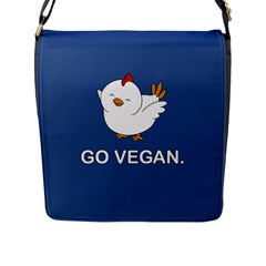 Go Vegan   Cute Chick  Flap Messenger Bag (l)