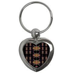 Paradise Flowers In A Decorative Jungle Key Chains (heart)