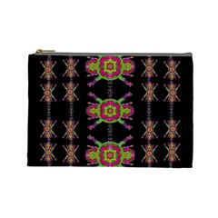 Paradise Flowers In A Decorative Jungle Cosmetic Bag (large)