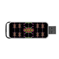 Paradise Flowers In A Decorative Jungle Portable Usb Flash (two Sides)