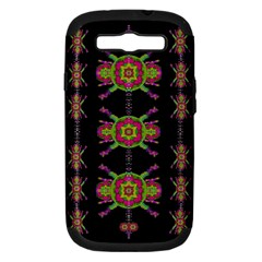 Paradise Flowers In A Decorative Jungle Samsung Galaxy S Iii Hardshell Case (pc+silicone)