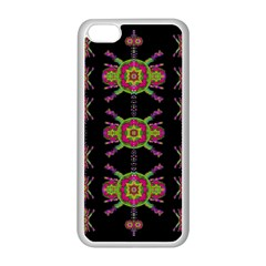 Paradise Flowers In A Decorative Jungle Apple Iphone 5c Seamless Case (white)
