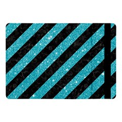 Stripes3 Black Marble & Turquoise Glitter (r) Apple Ipad Pro 10 5   Flip Case