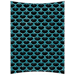 Scales3 Black Marble & Turquoise Glitter (r) Back Support Cushion