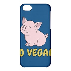Go Vegan   Cute Pig Apple Iphone 5c Hardshell Case