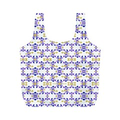 Decorative Ornate Pattern Full Print Recycle Bags (m)
