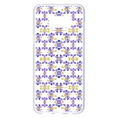Decorative Ornate Pattern Samsung Galaxy S8 Plus White Seamless Case