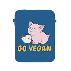 Go Vegan   Cute Pig And Chicken Apple Ipad 2/3/4 Protective Soft Cases