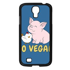 Go Vegan   Cute Pig And Chicken Samsung Galaxy S4 I9500/ I9505 Case (black)