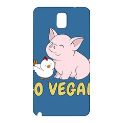 Go Vegan   Cute Pig And Chicken Samsung Galaxy Note 3 N9005 Hardshell Back Case
