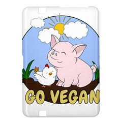 Go Vegan   Cute Pig And Chicken Kindle Fire Hd 8 9