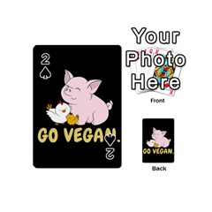 Go Vegan   Cute Pig And Chicken Playing Cards 54 (mini)