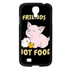 Friends Not Food   Cute Pig And Chicken Samsung Galaxy S4 I9500/ I9505 Case (black)