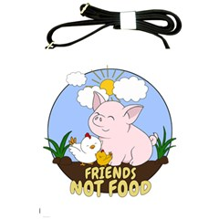 Friends Not Food   Cute Pig And Chicken Shoulder Sling Bags