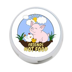 Friends Not Food   Cute Pig And Chicken 4 Port Usb Hub (two Sides)