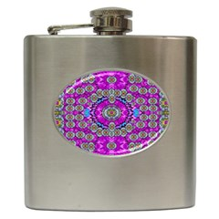 Spring Time In Colors And Decorative Fantasy Bloom Hip Flask (6 Oz)