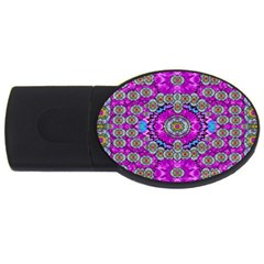 Spring Time In Colors And Decorative Fantasy Bloom Usb Flash Drive Oval (4 Gb)