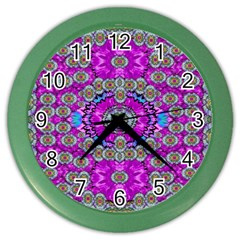 Spring Time In Colors And Decorative Fantasy Bloom Color Wall Clocks