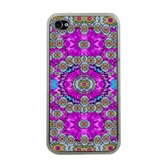 Spring Time In Colors And Decorative Fantasy Bloom Apple Iphone 4 Case (clear)