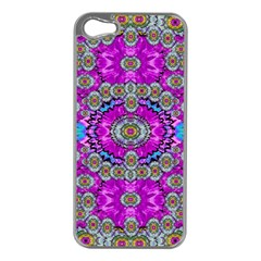 Spring Time In Colors And Decorative Fantasy Bloom Apple Iphone 5 Case (silver)