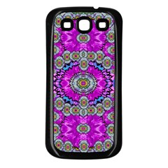 Spring Time In Colors And Decorative Fantasy Bloom Samsung Galaxy S3 Back Case (black)