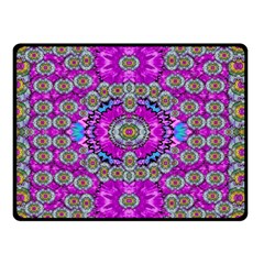 Spring Time In Colors And Decorative Fantasy Bloom Double Sided Fleece Blanket (small)