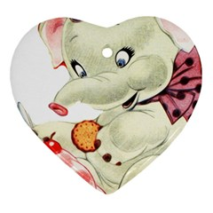 Elephant 1650653 1920 Heart Ornament (two Sides)