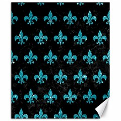 Royal1 Black Marble & Turquoise Glitter Canvas 20  X 24
