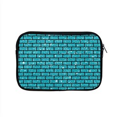 Brick1 Black Marble & Turquoise Glitter Apple Macbook Pro 15  Zipper Case