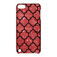 Tile1 Black Marble & Red Glitter Apple Ipod Touch 5 Hardshell Case With Stand