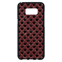 Scales2 Black Marble & Red Glitter (r) Samsung Galaxy S8 Plus Black Seamless Case