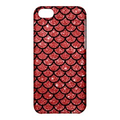 Scales1 Black Marble & Red Glitter Apple Iphone 5c Hardshell Case