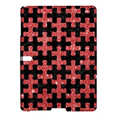 Puzzle1 Black Marble & Red Glitter Samsung Galaxy Tab S (10 5 ) Hardshell Case