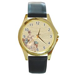 Background 1775324 1920 Round Gold Metal Watch