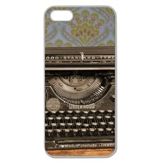 Typewriter Apple Seamless Iphone 5 Case (clear)
